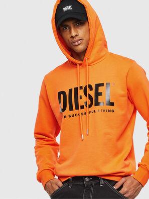 S-GIR-HOOD-DIVISION-, Orange - Sweaters